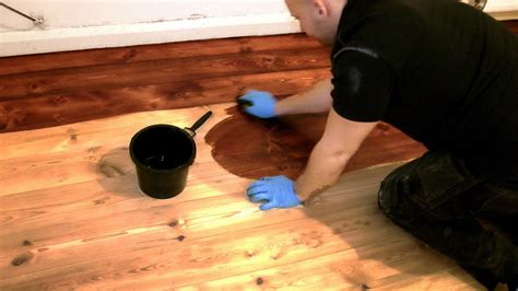 Ideas For Updating Kitchen Cabinets how to stain a wooden floor like a pro youtube
