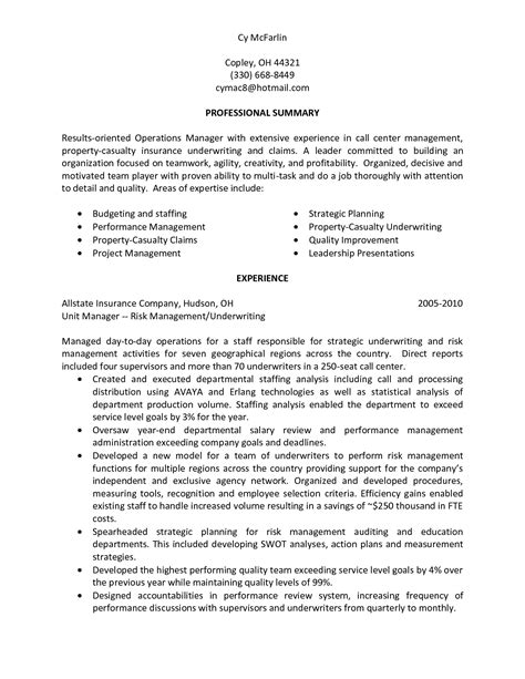 Project Manager Summary Statement by Best Photos Of Resume Personal Statement Exles
