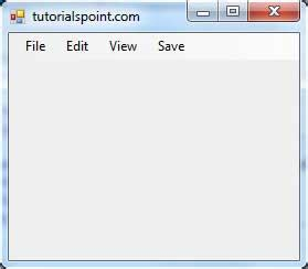 tutorialspoint vb net pdf vb net menustrip control