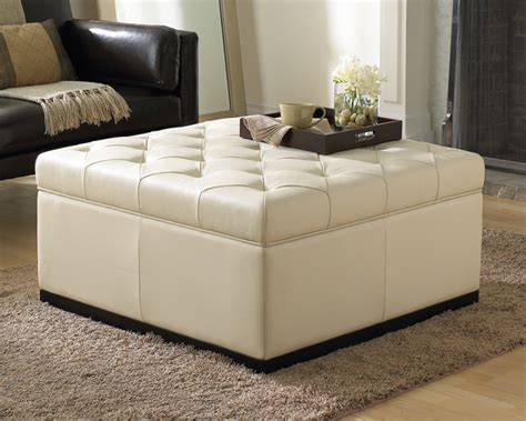 noah tufted storage ottoman cream buy storage ottomans