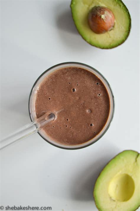 protein avocado chocolate avocado protein smoothie