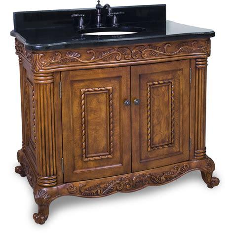 bathroom vanity with black granite top jeffrey alexander burled painted walnut ornate bathroom vanity with black granite top