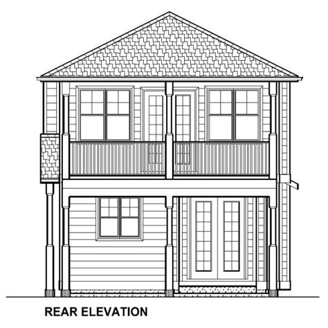 Narrow Yet Attractive Duplex House Plan Hunters Duplex House Plans For Narrow Blocks