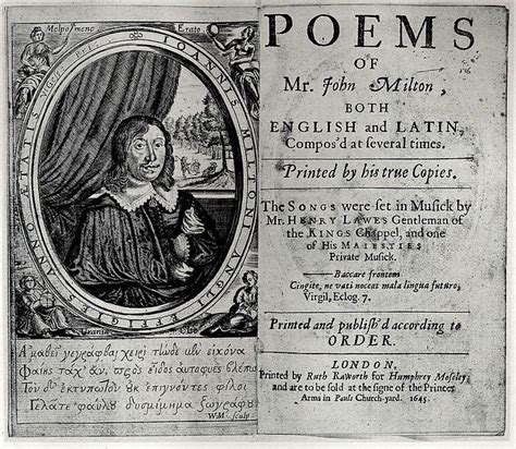 themes of 17th century english poetry john milton poems 1645 17th century english