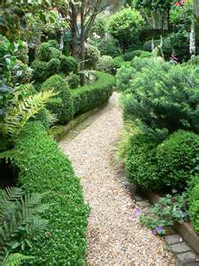 the garden gravel paths and patios
