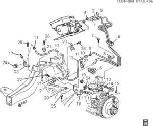 2004 Gmc Brake System Diagram Solved 1999 2500 Up Abs Brake Line Diagram Fixya