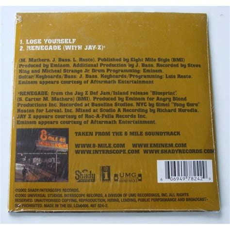 eminem jay z renegade lose yourself renegade with jay z by eminem cds with