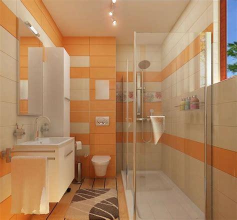 Délicieux Amenagement Salle De Bain Petite Surface #1: am%C3%A9nagement-petite-salle-de-bains-id%C3%A9e-am%C3%A9nagement-petite-salle-de-bains-orange.jpg