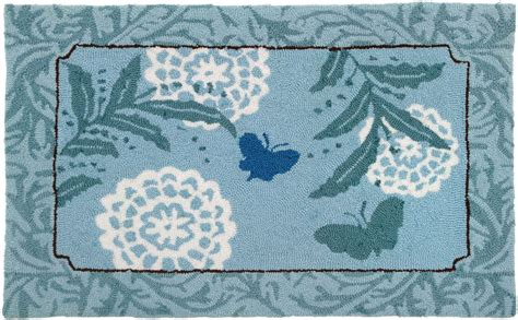 Butterfly Area Rug Homefires Blue Butterfly Contemporary Area Rug Collection Rugpal Py Jb082 5500