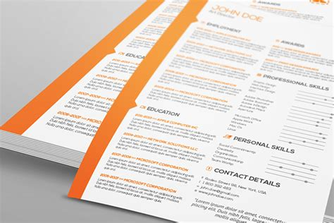 Business Letter Template Indesign Two Pages Resume Cover Letter Template On Behance