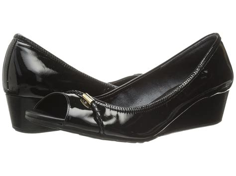 Slip On Tali Wedges cole haan tali open toe wedge 40 black zappos free shipping both ways