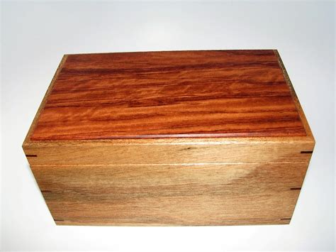 Handcrafted Wooden Box - memory box mahogany and bubinga keepsake box 9 75