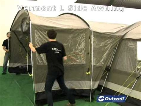 outwell vermont side awning outwell vermont l side awning youtube