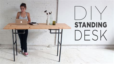 desks for standing diy plumbers pipe standing desk