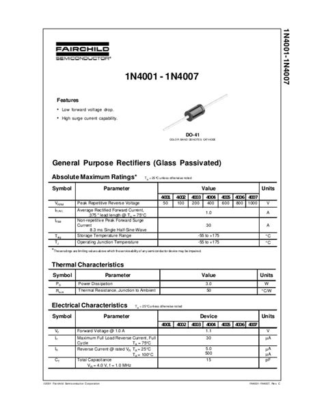 in4007 diode pdf in4007 diode specification 28 images in4004 4533003 pdf datasheet ic on line 1n4007 tb