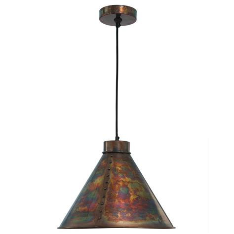 kenroy home cuprum 1 light flamed copper pendant 93120fcop the home depot