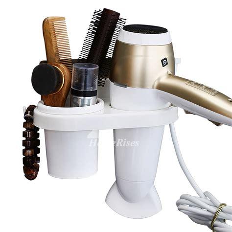 white hair dryer holder suction cup cheap plastic bathroom