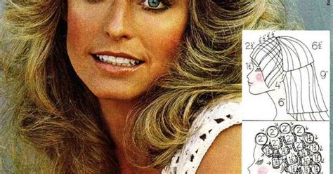 diagram of farrah fawcett haircut farrah fawcett haircut and styling instructions woohoo