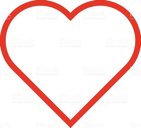 flat design icon heart heart outline icon modern minimal flat design style love
