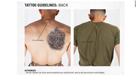 female regulations marine corps presentation marines ink new tattoo rules cnnpolitics