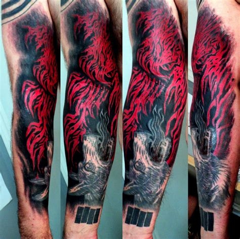 fire tattoos for men tattoos on arm cool tattoos bonbaden