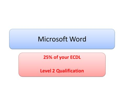 test ecdl word ecdl word processing by caludon uk teaching resources tes
