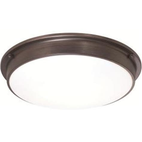 sylvania 3 light bronze indoor led ceiling flushmount