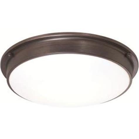 Home Ceiling Light Fixtures Sylvania 3 Light Bronze Indoor Led Ceiling Flushmount