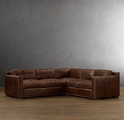 leather sectional restoration hardware haus pinterest