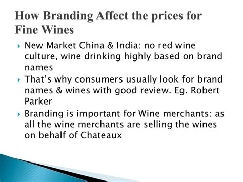 Mba In Wine Management India by Mba Thesis Presentation Wine Auction And Brand Equity