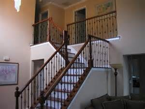 Remodel Stair Railing by Wood Stairs And Rails And Iron Balusters Remodel Stair