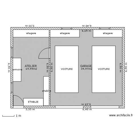 garage planen garage atelier plan 2 pi 232 ces 60 m2 dessin 233 par