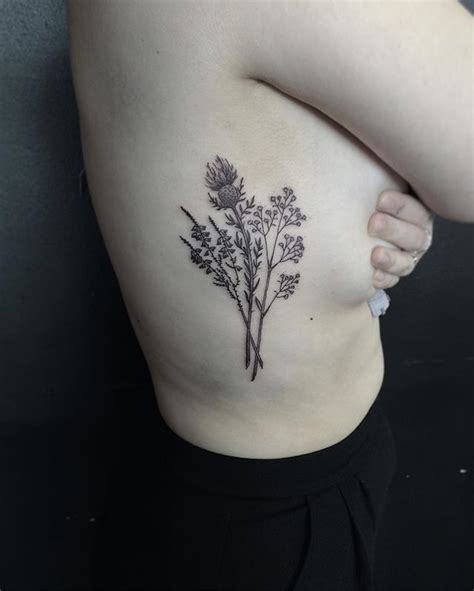 heather flower tattoo designs 25 best ideas about thistle on