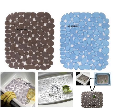 Kitchen Sink Mat by Deluxe Sink Mat Pebble Dish Drainer Glass Scratch