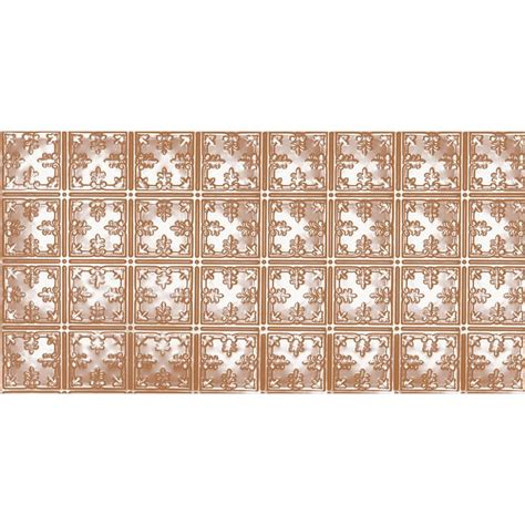 ceiling tiles home depot shanko 2 ft x 4 ft nail up direct application tin ceiling tile in satin copper 24 sq ft