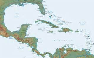 map of america and caribbean map caribbean central america