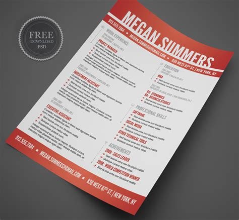Creative Resumes Templates Free by 15 Free Creative Resume Templates