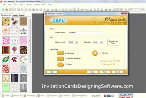 invitation card software wedding invitation cards designing windows 7