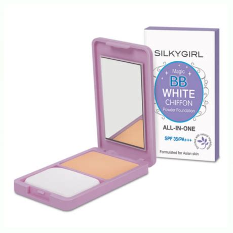 Silkygirl Magic Bb White Powder Foundation silkygirl magic bb white chiffon powder foundation 03