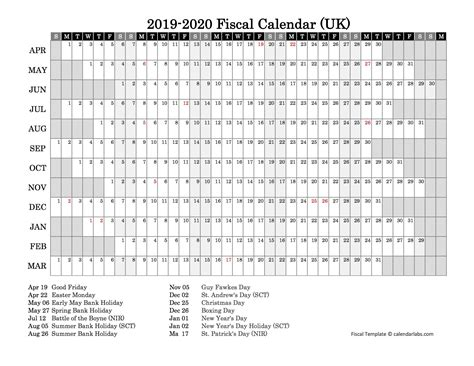 fiscal year calendar  printable templates