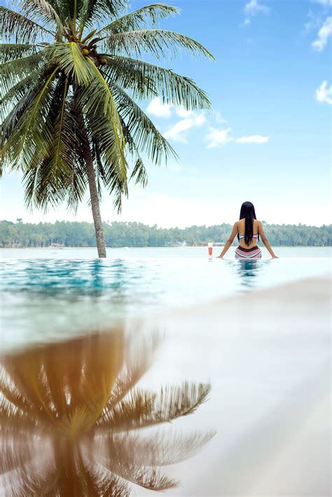 picture beach sea tropical paradise sand vacation ocean travel sky