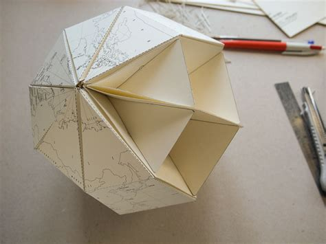 Paper Cutting And Folding - diy paper globe print cut and fold diy origami