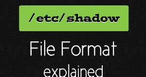 format file bash etc shadow file format in linux explained your own linux