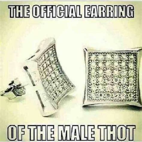 the official earring of the thot