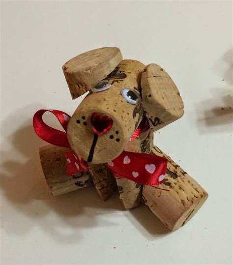 how to make a dog cork ornament kathy s angelnik designs project ideas corky the wine cork diy