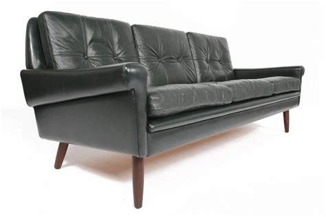 dark green leather couch svend skipper dark green leather sofa at 1stdibs
