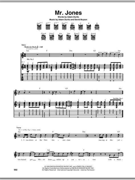 Guitar Chords Mr Jones