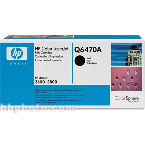 Toner Hp Q6470a hp laserjet q6470a black print cartridge q6470a b h photo