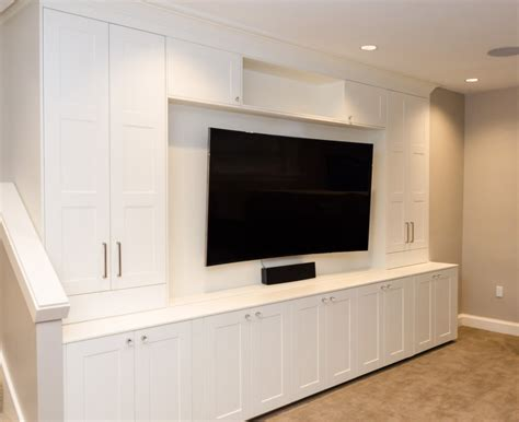 built in media cabinet designs ikea media center cocinas basements built