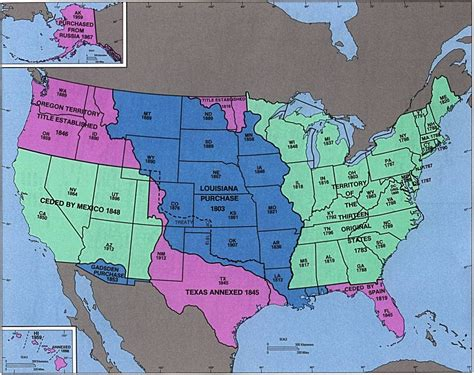 expansion of the united states map united states territorial acquisitions